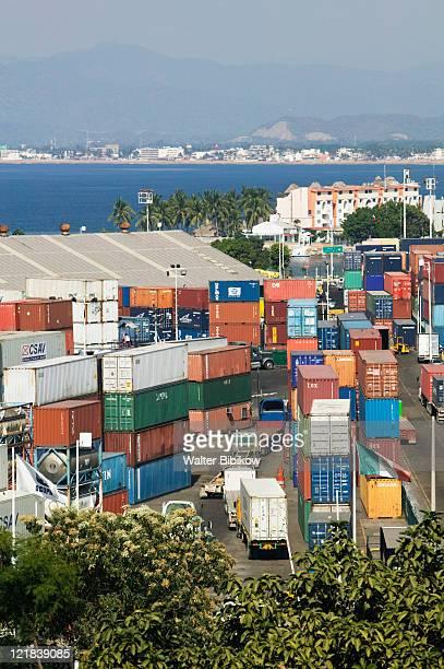 Container cargo port, Manzanillo, Mexico