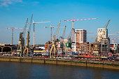 Container cranes and construction cranes