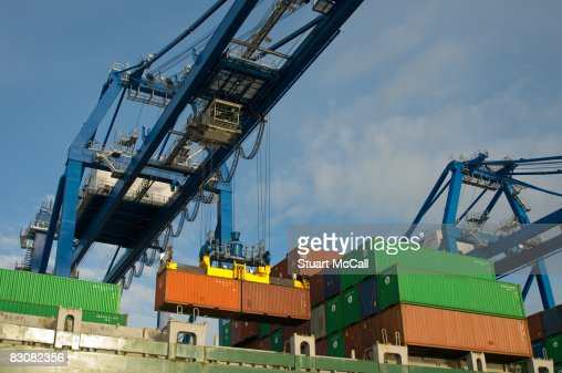 Container cranes : Stock Photo
