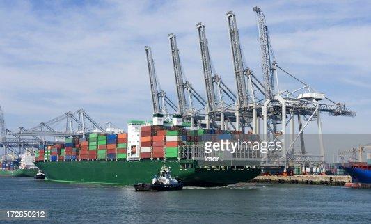 Container harbor of Rotterdam