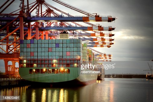 Container Harbor : Stock Photo