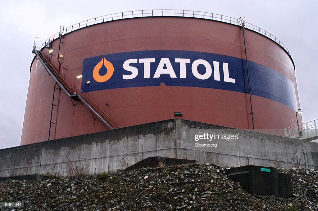 A container holding ballast from ships docking at the largely Statoil owned Mongstad oil refinery Europe's second biggest oil port Norway Tuesday...