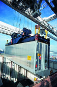 Container Lowered onto Cargo Ship