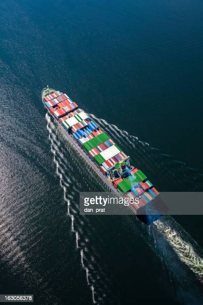 Frachtschiff Luft Foto