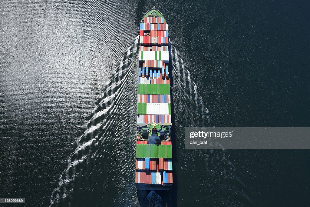 Container Ship Aerial Photo