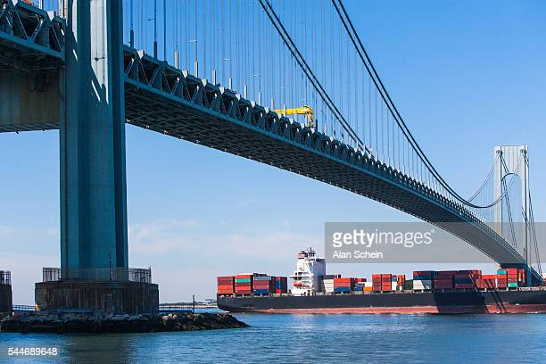 Container ship and Bridge