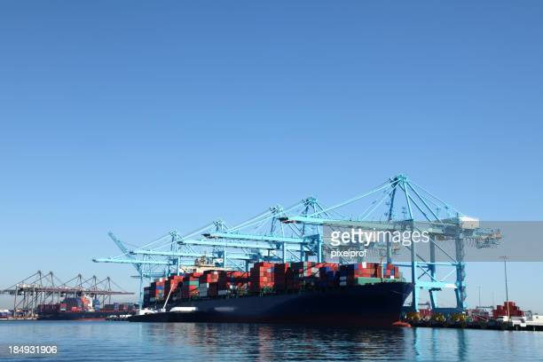 Container ship at Los Angeles Harbor