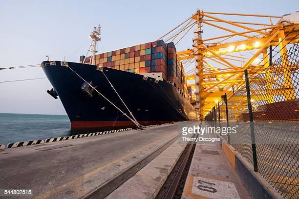Container ship in  Dubai