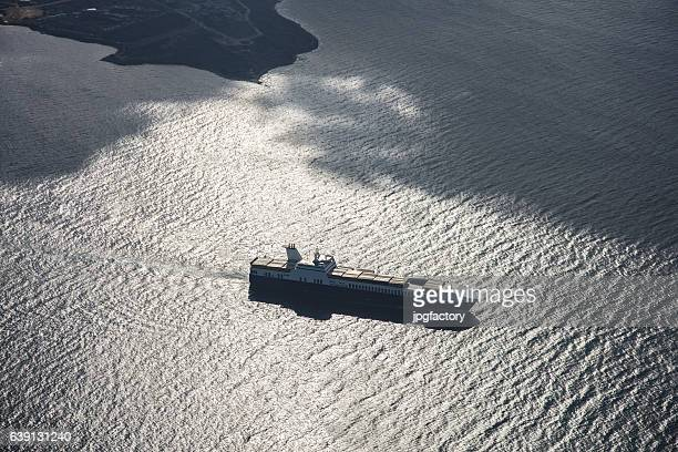 Container Ship Leaving the Port