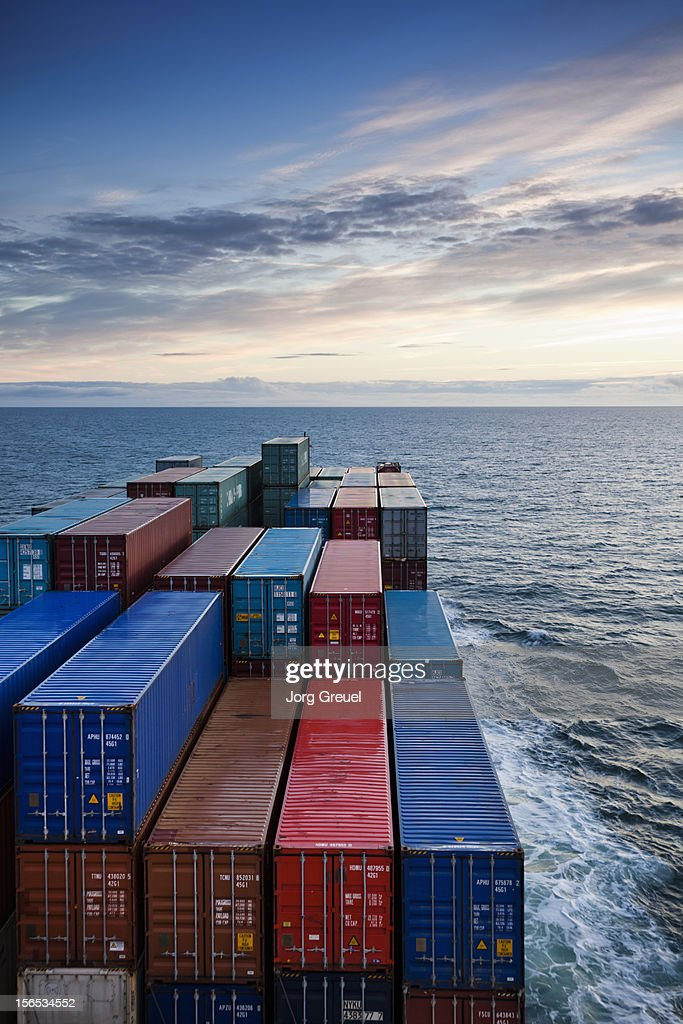 Container ship on Kattegat