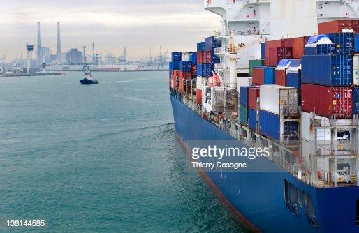Container ship : Stockfoto