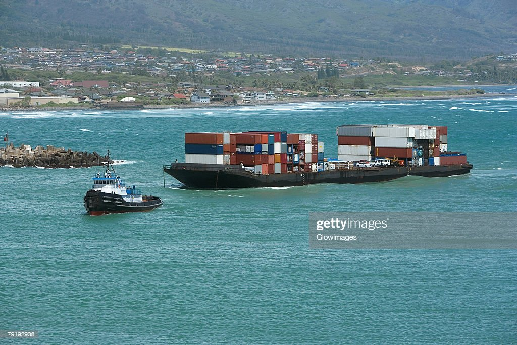 Container ships in the sea : Foto de stock