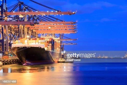 Container terminal and cargo ship