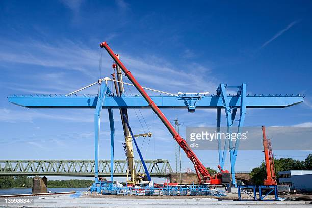 Container terminal gantry crane - construction site
