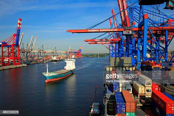 container terminal, harbour of Hamburg, Germany