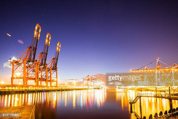 Container terminal in Hamburg harbour.