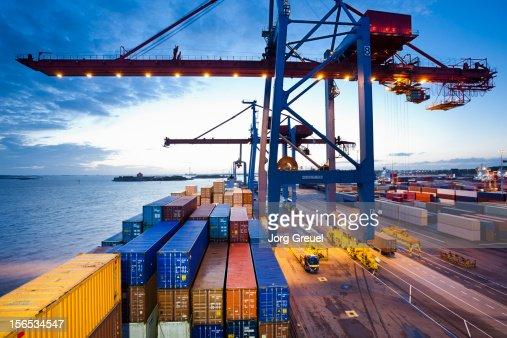Container terminal : Foto de stock