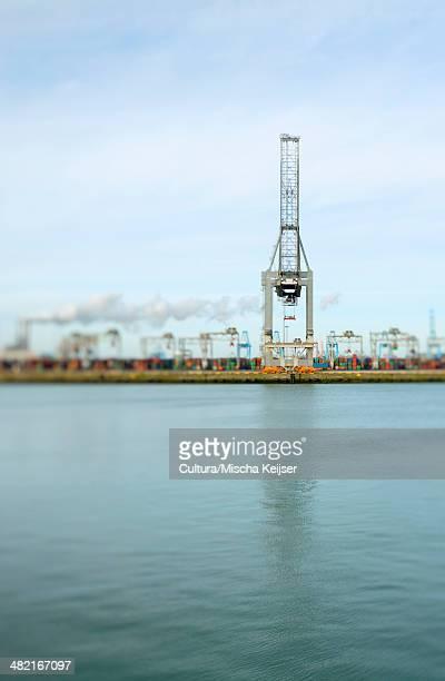 Container terminal Rotterdam port, Rotterdam, Netherlands