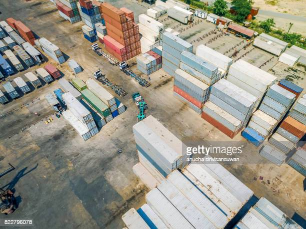 container truck Drive in Container storage .