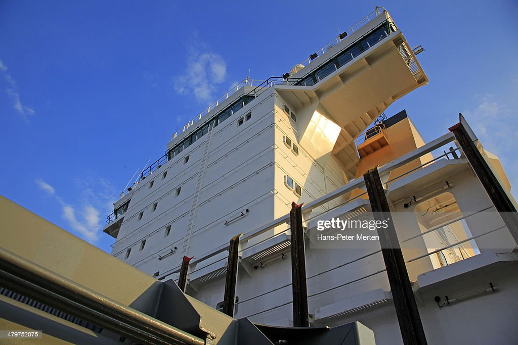 container vessel on Baltic Sea : Stock Photo