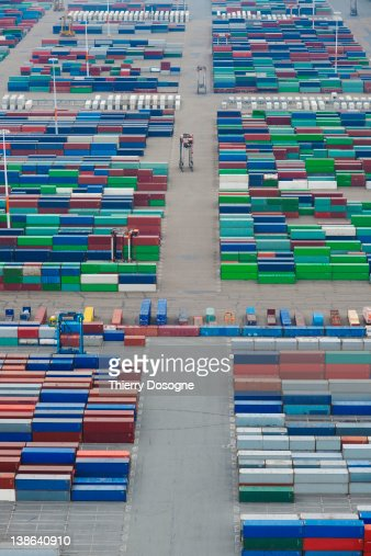 Containers dock : Stock Photo