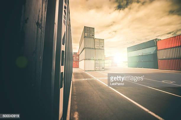 Containers in commercial dock
