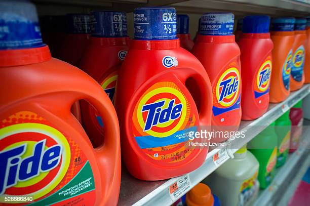 Containers of Tide detergent on grocery store shelves in New York on Wednesday April 22 2015 Procter Gamble reported a 35% increase in profits from...