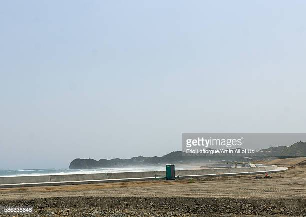 Contaminated beach after the daiichi nuclear power plant irradiation fukushima prefecture tairatoyoma beach Japan on May 22 2016 in Tairatoyoma Beach...