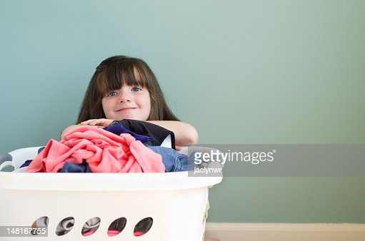 contemplating laundry