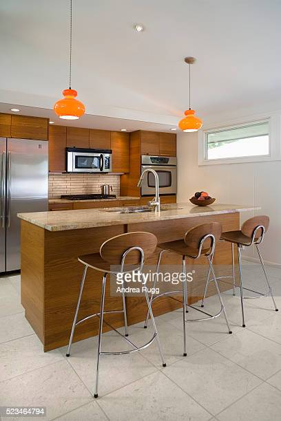 Contemporary 1950s style kitchen
