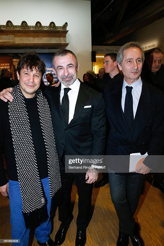 Contemporary Artist Adel Abdessemed President of Centre Pompidou Alain Seban and Director of the Centre Pompidou Museum of Modern Art Bernard...