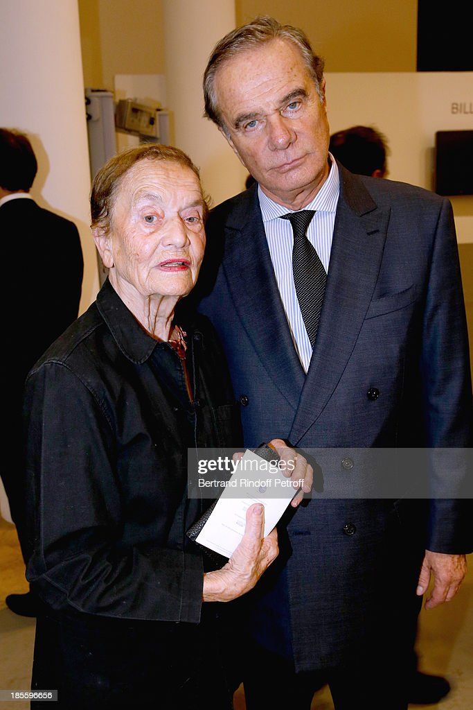 Contemporary Artist Claude Lalanne and Jean-Gabriel Mitterrand attend the the dinner of the friends of the 'Musee d'Art Moderne de la ville de Paris' on October 22, 2013 in Paris, France.