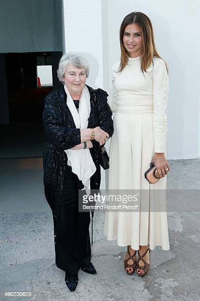 Contemporary artist Emilia Kabakov and Galerist Dasha Zhukova attend 'The strange city' Exhibition by Ilya and Emilia Kabakov at Monumenta 2014...