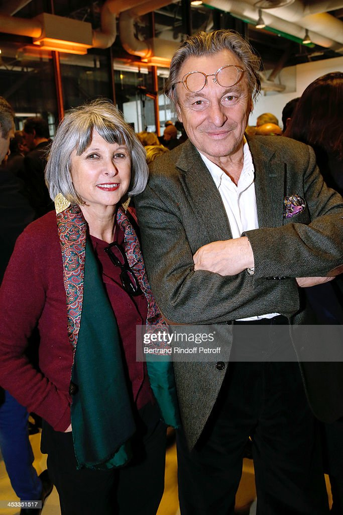 Contemporary Artist Gerard Garouste with his wife Elisabeth Garouste attend the Tribute to Alfred Pacquement, Director of the Centre Pompidou Museum of Modern Art, at Centre Pompidou on December 3, 2013 in Paris, France.
