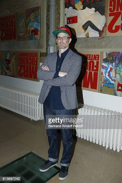 Contemporary Artist Mike Bouchet Exhibition Opening at Azzedine Alaia Gallery on October 16 2016 in Paris France