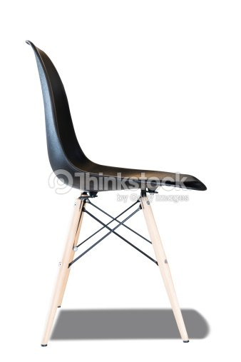 Moderner Stuhl Seitenansicht Isoliert Auf Weißem Hintergrund Stock