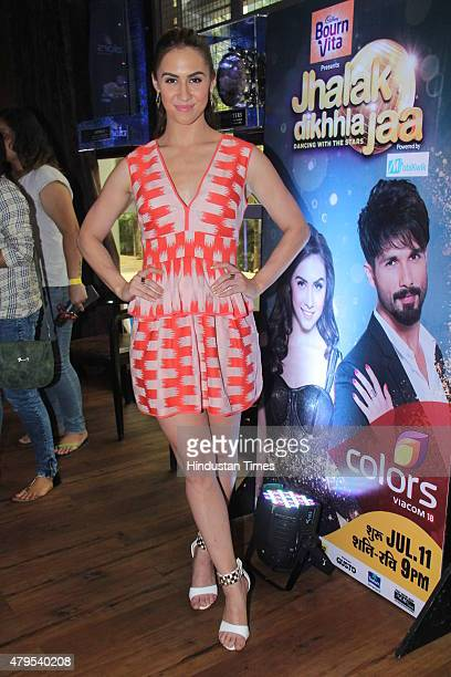 Contemporary dancer and contestant Lauren Gottlieb during the promotion of dance reality show Jhalak Dikhhla Jaa 8 at Hard Rock Cafe Andheri on July...