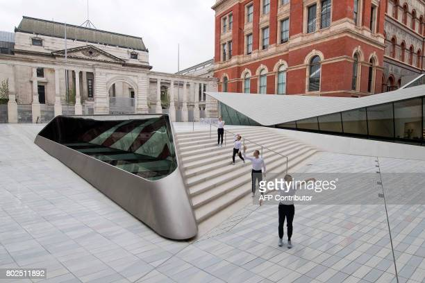 Contemporary dancers perform in the Sackler Courtyard a new addition to the Victoria and Albert museum is unveiled to the public in London on June 28...