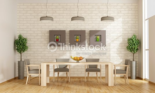 Sala Da Pranzo Contemporanei Foto stock | Thinkstock