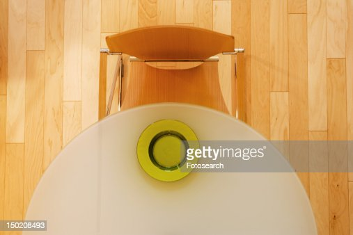 Contemporary dining table : Stock Photo