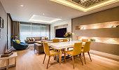 Contemporary elegant luxury living room