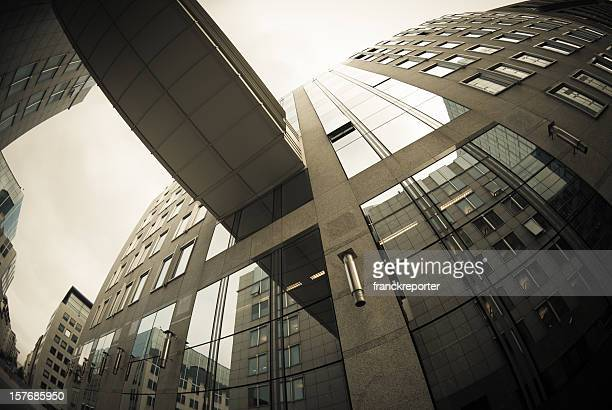 Contemporary financial district building in Brussels - Scyscraper
