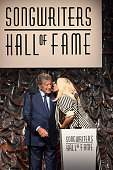 Contemporary Icon Award Recipient Lady Gaga and Singer Tony Bennett speak onstage at the Songwriters Hall Of Fame 46th Annual Induction And Awards at...