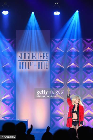 Contemporary Icon Award Recipient Lady Gaga performs onstage at the Songwriters Hall Of Fame 46th Annual Induction And Awards at Marriott Marquis...
