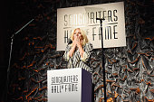 Contemporary Icon Award Recipient Lady Gaga speaks onstage at the Songwriters Hall Of Fame 46th Annual Induction And Awards at Marriott Marquis Hotel...