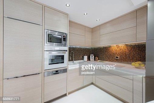 Contemporary kitchen interior : Stock Photo