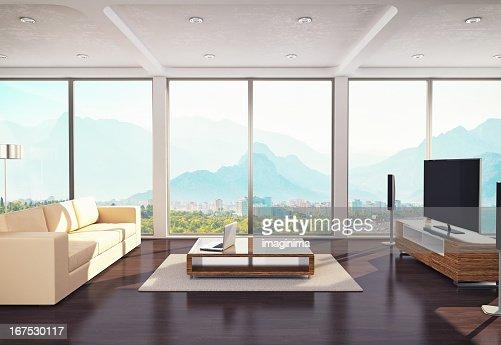 Contemporary Living Room Design : Bildbanksbilder