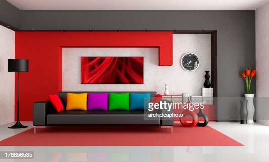 Contemporary Living Room : Stock Photo