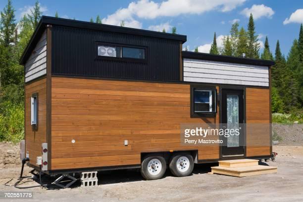 Contemporary mobile home, Quebec, Canada