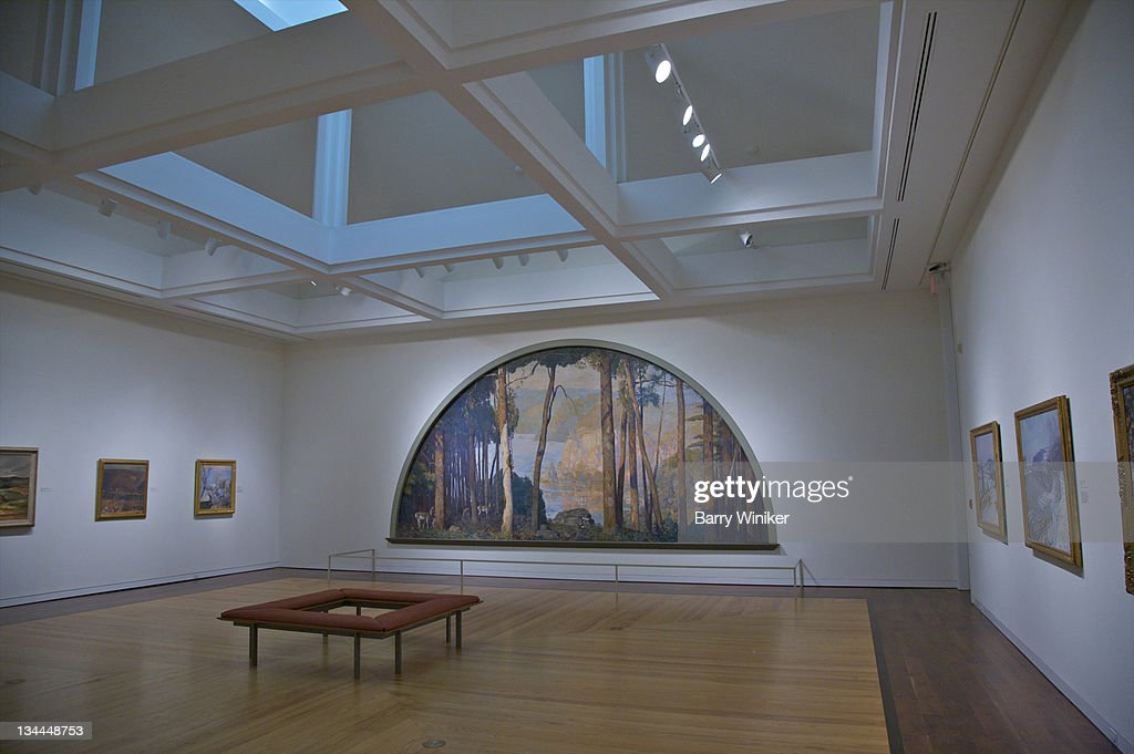 Contemporary painting gallery in museum. : Stock Photo